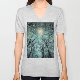 Nature Blazes Before Your Eyes (Mint Embers) Unisex V-Neck