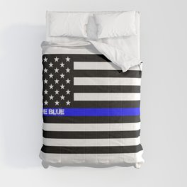 Back the Blue Thin Blue Line Comforters