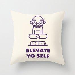 Elevate Yo Self Throw Pillow