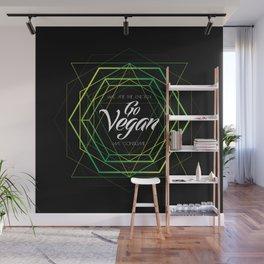 Vegan Geometry Wall Mural
