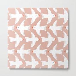 Flying birds pattern Metal Print