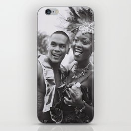 Caribana Festival Parade Costume revellers Black and white photo  iPhone Skin
