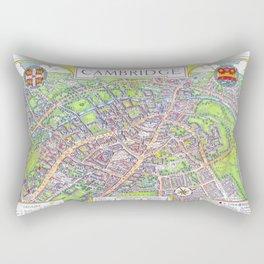 CAMBRIDGE University map ENGLAND Rectangular Pillow