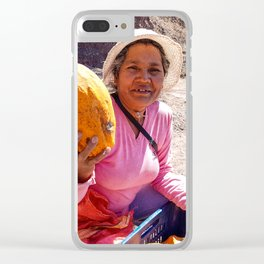 Get some free papaya. Clear iPhone Case