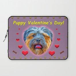 Puppy Valentine's Day! Laptop Sleeve