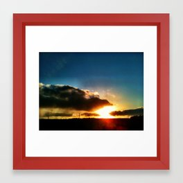 Shy Sun Framed Art Print