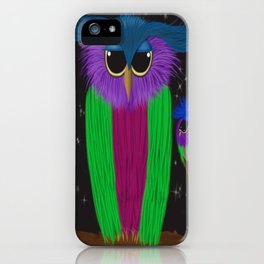 The Prismatic Crested Owl iPhone Case