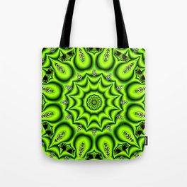 Spring Garden Mandala, Abstract Star Burst Delightful Spirals Tote Bag
