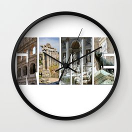 The monuments of Rome Wall Clock