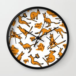 Funny kangaroos Wall Clock