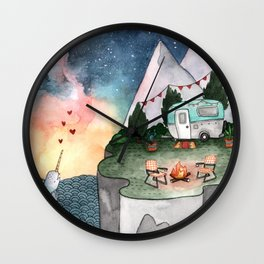 Night Camper Wall Clock