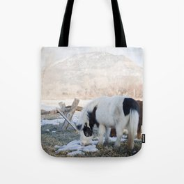 mini horses and a view Tote Bag