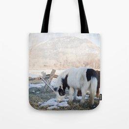 mini horses and a view Tote Bag