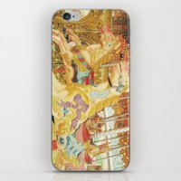 carousel iPhone & iPod Skins featuring Carousel Horse by Whimsy Romance & Fun