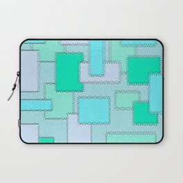 Turquoise Patches Laptop Sleeve