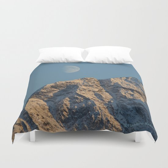 Moon Over Pioneer Peak - II Duvet Cover