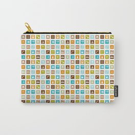 Travel Icons Carry-All Pouch