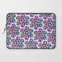Rainbow Leopard Flower Laptop Sleeve