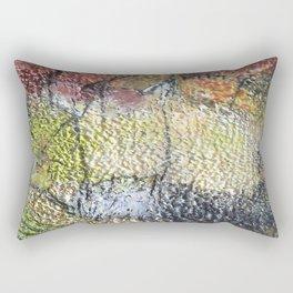 Promise of Life  - Mixed Media Beeswax Encaustic Abstract Modern Art, 2015 Rectangular Pillow
