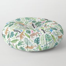 Jungle/Tropical Pattern Floor Pillow