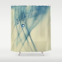 feather Shower Curtains featuring feather by Ingrid Beddoes