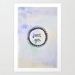 puerta project: just go  Art Print