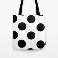 polka dot Tote Bags featuring Polka Dot by JiaMiin Berglund
