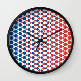 Bleu Blanc Rouge-Dots - Living Hell Wall Clock