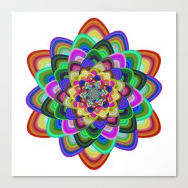Hexagonal flower Canvas Print