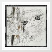 Lowbrow Misfit Angelica  Art Print