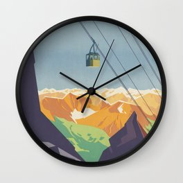 Austrian Cable Car Wall Clock