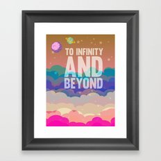 to infinity and beyond.. toy story.. buzz lightyear Framed Art Print