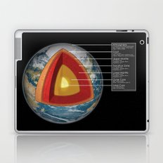 Earth - Cross Section Laptop & iPad Skin