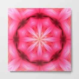 Heart Star Mandala Metal Print