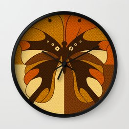 RETRO BUTTERFLY Wall Clock