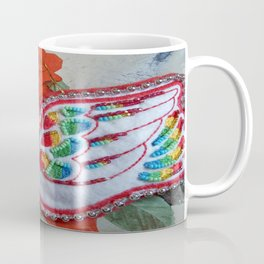 vintage dove beadwork Coffee Mug