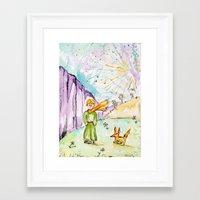 le petit prince Framed Art Prints featuring Le petit prince by Colorful Simone