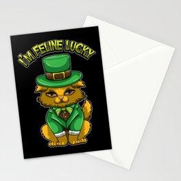 I'm Feline Lucky - St. Patrick's Day Irish Cat Stationery Cards