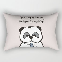 Daddy Panda Nursery Print in Pink (1 of 3) Rectangular Pillow