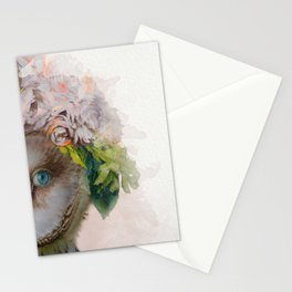 Animal Art - Owl Painting Stationery Cards