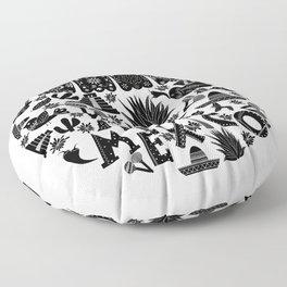 Doodle viva Mexico Floor Pillow