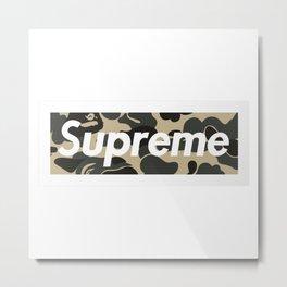 Supreme Bape Metal Print