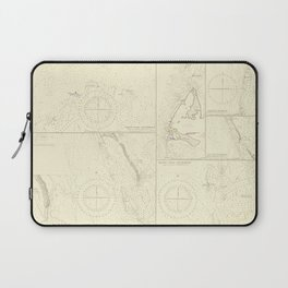 Vintage Map Print - Admiralty Chart No 3006 the North West Side of the Great Bahama Bank, 1898 Laptop Sleeve