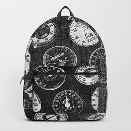Dark Vintage Motorcycle Speedometers Backpack