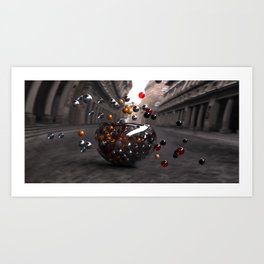 Bowls and Balls Art Print