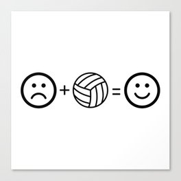 Volleyball Makes Me Happy Canvas Print