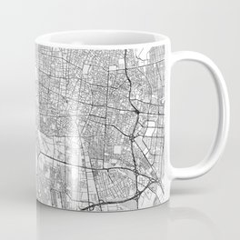 Teheran Map Line Coffee Mug