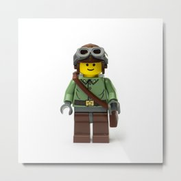 Ranger Minifig with gloves and helmet and goggles Metal Print