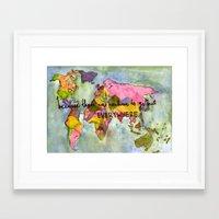 wanderlust Framed Art Prints featuring wanderlust by Eliza L