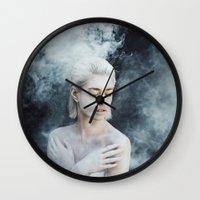 illusion Wall Clocks featuring Illusion by Jovana Rikalo